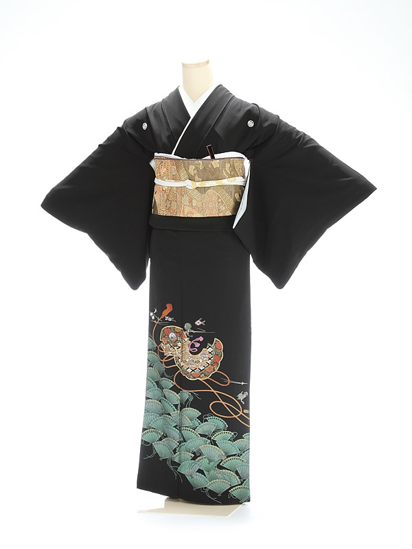 黒留袖1173扇面の舞