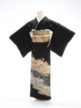 黒留袖1053寿鶴