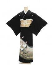 黒留袖1100梅園の鶴
