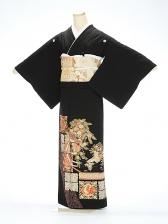 黒留袖1087金鶴鳳凰