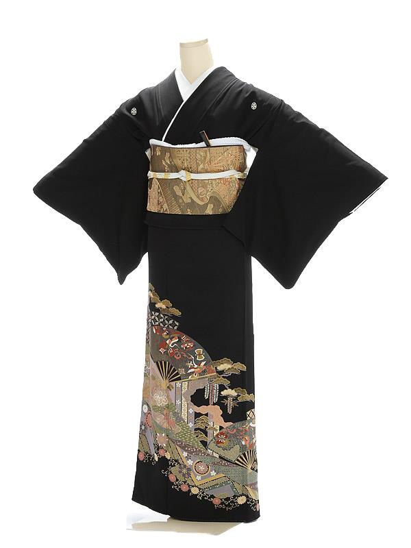 黒留袖1012吉祥古典絵巻