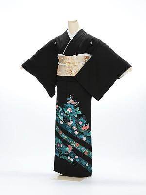 黒留袖1102青帯花