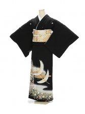 黒留袖1137花苑の華鶴