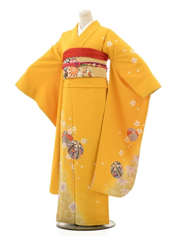 振袖E037 黄色手まり