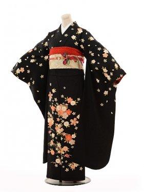 振袖E105 黒地菊花
