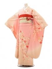 振袖E050 ベージュピンクぼかし桜