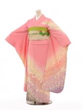 振袖E084 ピンクラメ小花