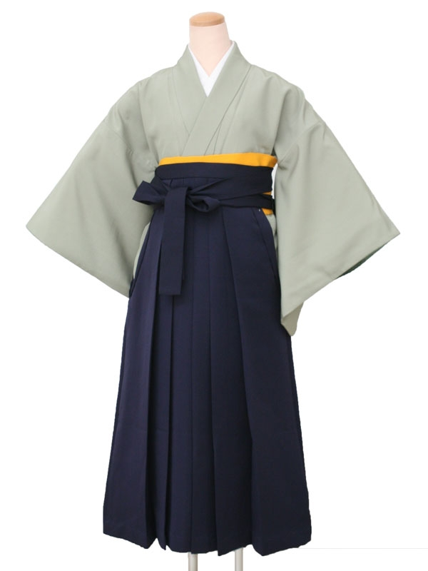 卒業袴レンタル 1805無地うぐいす一紋