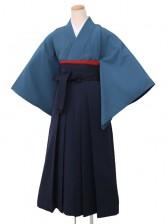 卒業袴レンタル 1530無地濃青一紋L