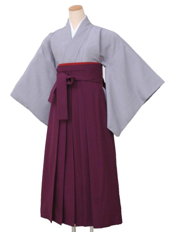 卒業袴レンタル1605無地ブルーグレーL