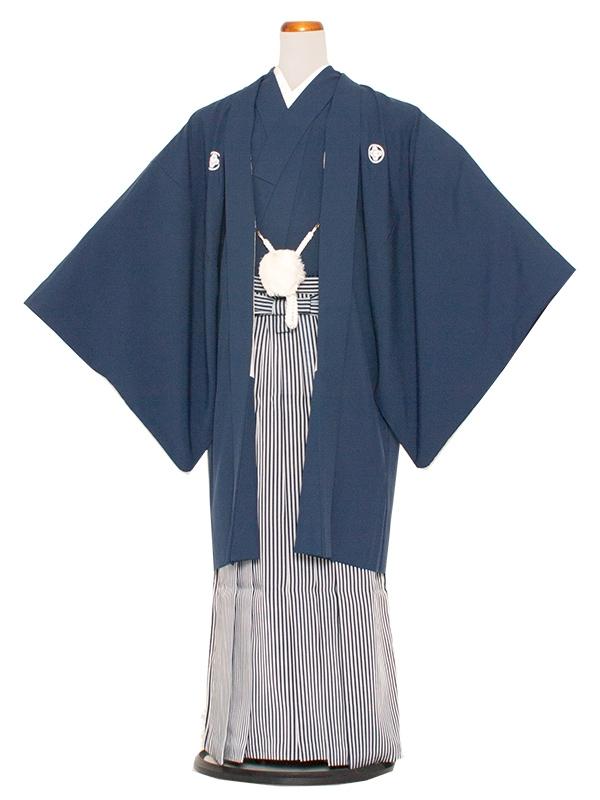 男性用袴 7号紺色縞袴/7N10