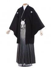 男性用袴 紋服8号新郎黒紋付ぼかし/8-00