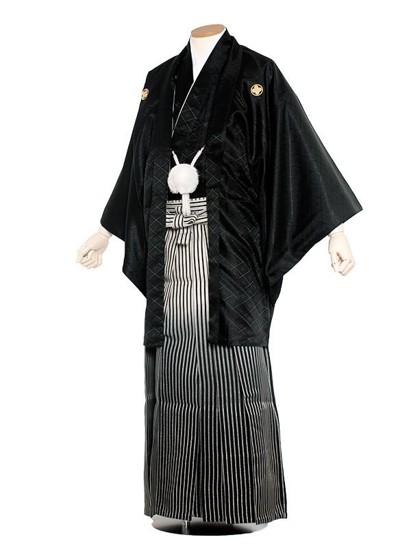 男性用袴 紋服8号 黒グリーンのぼかし袴/8B10