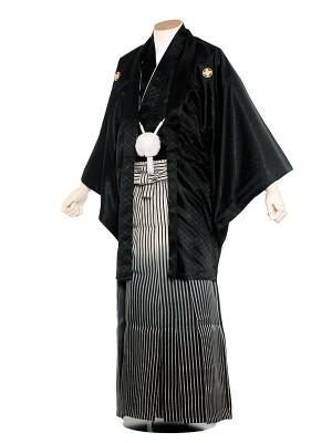 男性用袴 紋服8号 黒紋付ほかし/8B10