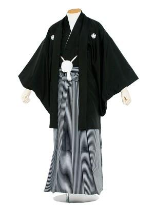 男性用袴レンタル  紋服8号黒紋付/8001