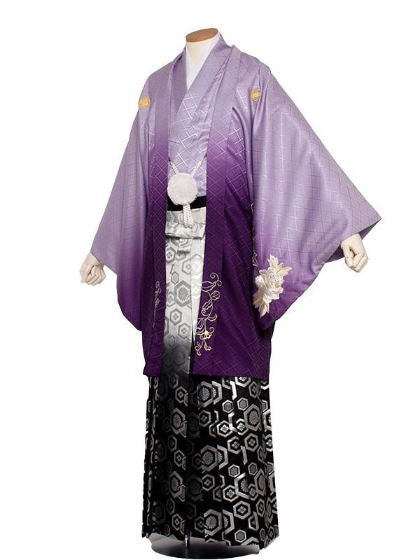 男性用袴 8号紫色/8V00