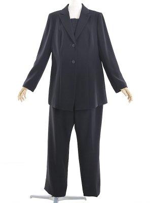 ブラックフォーマル 19号(5L)~27号(9L) ゆったりパンツスーツ