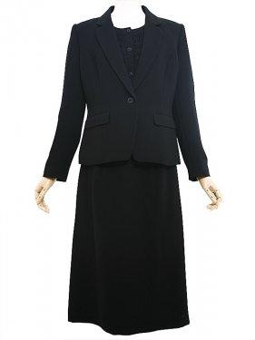 [東京発送]女性ブラックフォーマルNAZK018_3点セット