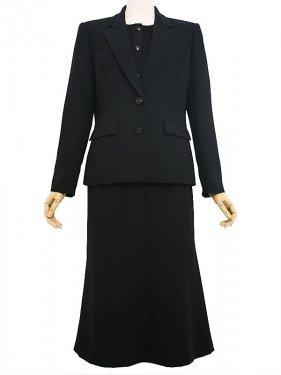 [東京発送]女性ブラックフォーマルNAZK021_4点セット