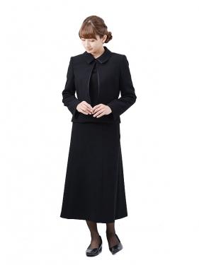 [東京発送]女性ブラックフォーマルNAZK017_3点セット