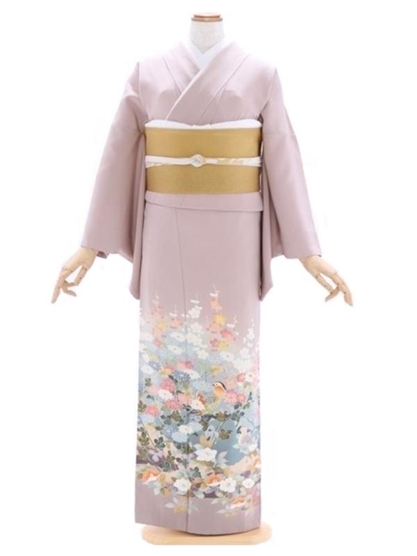 色留袖86薄紫 加賀友禅