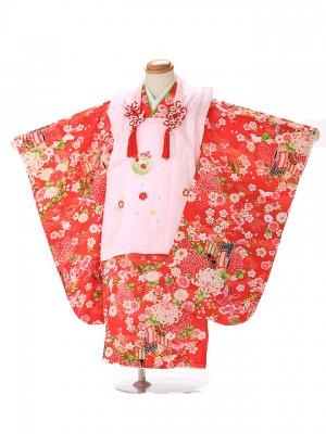 七五三(3歳女子被布)3298 毬刺繍