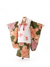 被布 緑×白 桜 3203