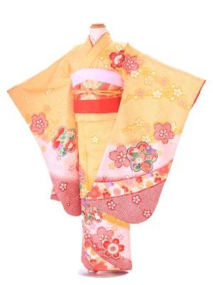 七五三(7歳女子結び帯) G237 桜鹿の子 黄