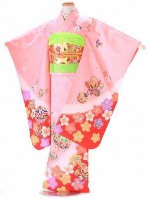 七五三 5歳 女の子 結び帯 ピンク G302