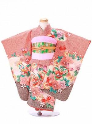 七五三 3歳 女の子 結び帯 ピンク G300