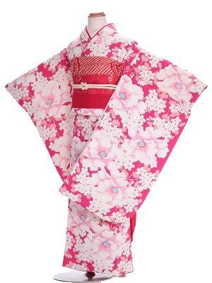 七五三(7歳女結び帯)G138 牡丹ピンク