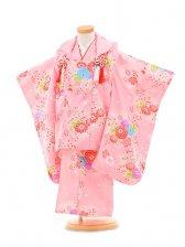 753レンタル(3歳女被布)0341ピンク花模様