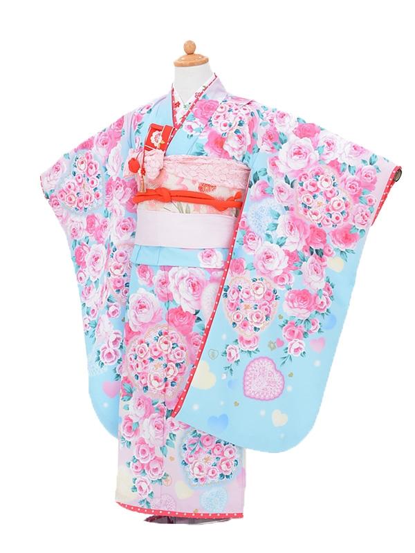 753レンタル(7歳女結び帯)0739松田聖子水色