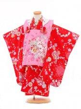 753レンタル(3歳女被布)0372赤×ピンク