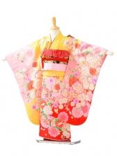 753レンタル(5歳女結び帯)0607黄色裾赤花