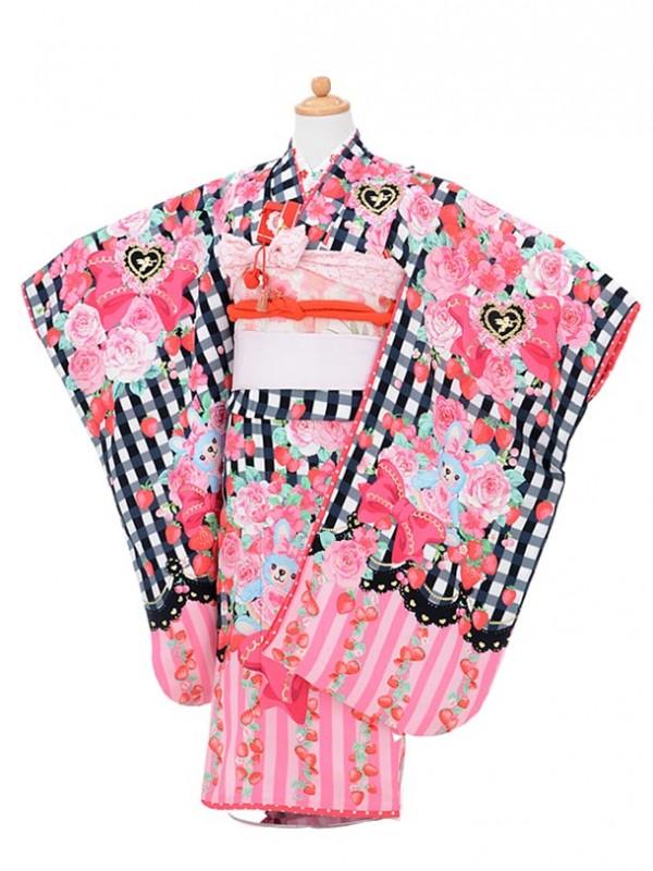 753レンタル(7歳女結び帯)0742松田聖子黒チェ