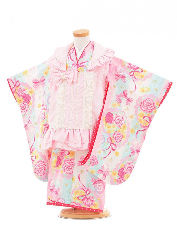 753レンタル(3歳女被布)0394松田聖子ピンク