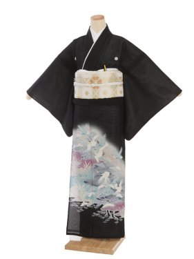 夏留袖7033 波に鶴