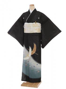夏留袖7035 鶴と松葉