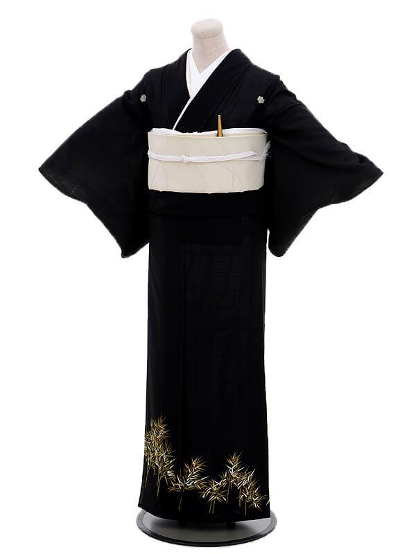 夏留袖7030竹林(化繊 絽)