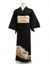 黒留袖CQ7-41グレーぼかし松鶴