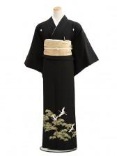 黒留袖7024老松に飛鶴