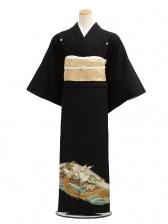 黒留袖レンタルC7004鶴亀