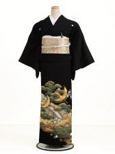 黒留袖7026松に金鶴