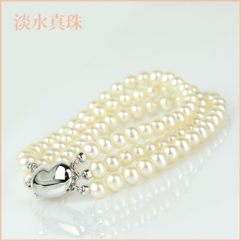 ブレスレット 淡水真珠(5-5.5mm 3連) 004