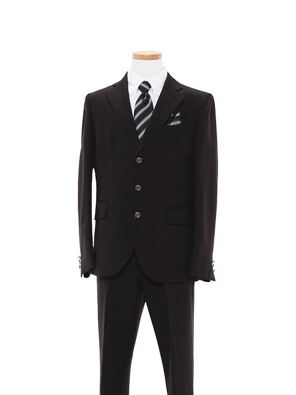[男の子スーツ]黒無地/白シャツBS17