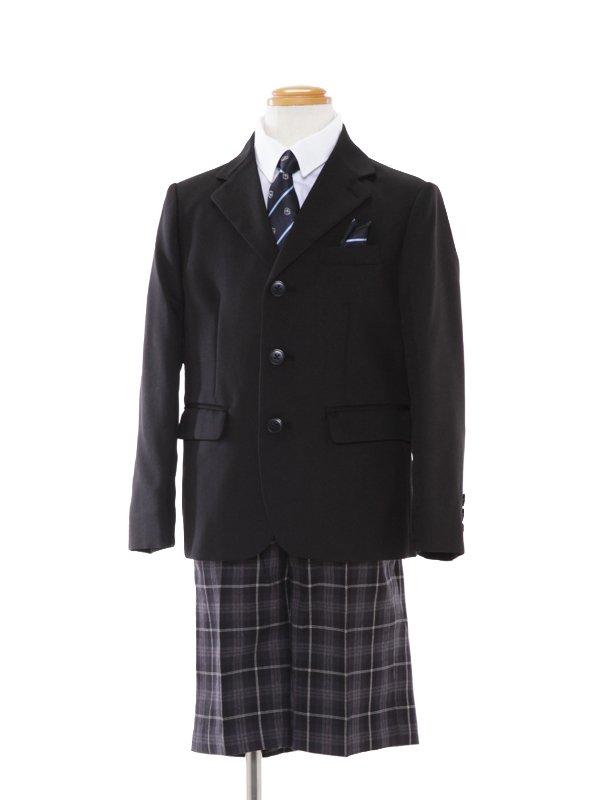 [男児スーツ]110cm格子パンツスーツBS32