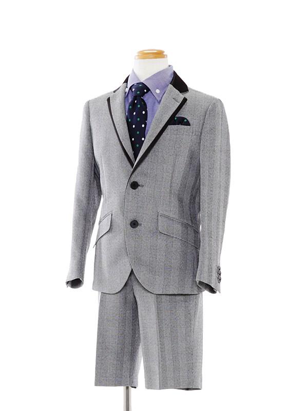 [男児スーツ]グレーチェック柄スーツBS30