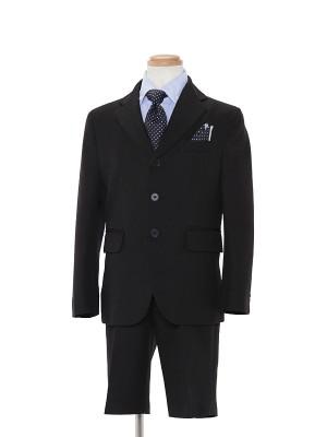 [男児スーツ]半ズボン/黒3つ釦/ブルーシャツ/BS22