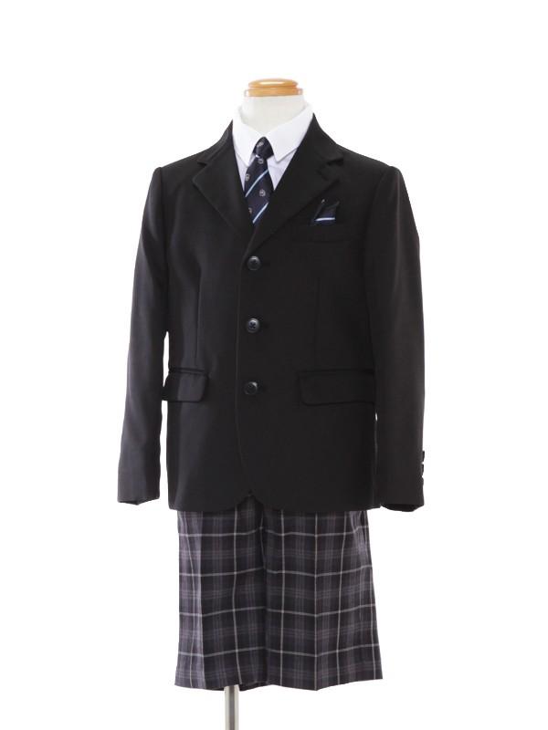 [男児スーツ]130cm格子パンツスーツBS32